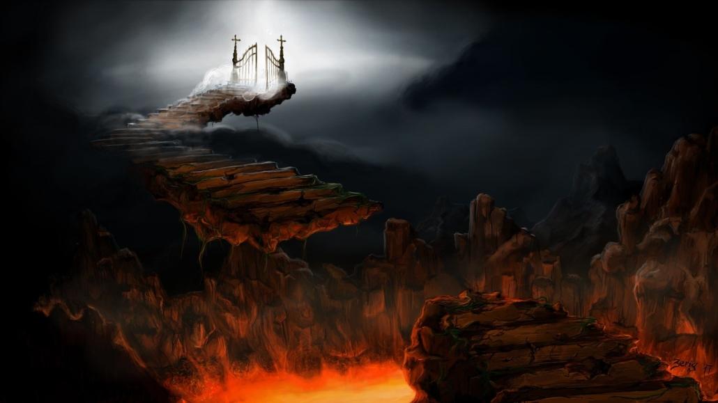Himmel und Hölle malerisch dargestellt