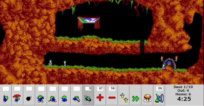 Das originale Lemmings Spiel für Atari