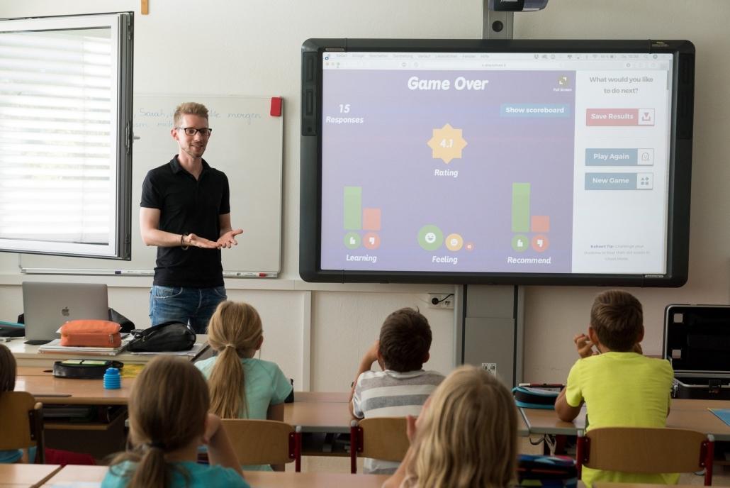 Lehrer der Gamification im Unterricht anwendet