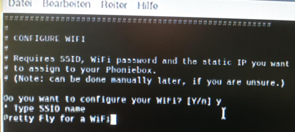 SSID Name bezeichnet den Namen eures WiFis.