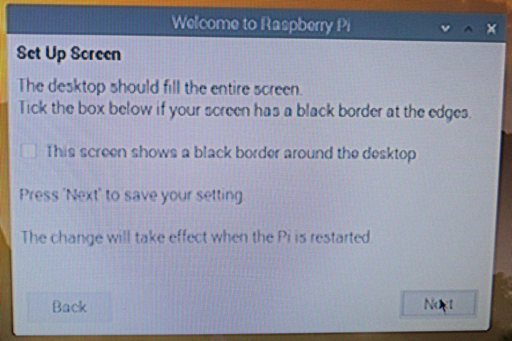 Raspbian Screen Einstellung - man muss nichts verändern